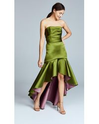 Marchesa notte - Strapless High Low Gown - Lyst