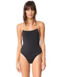 aaa03c55b80c Lyst - Solid   Striped The Chelsea Stripe Rib One Piece Swimsuit in ...