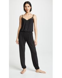 Eberjey - Lucie Button Down Jumpsuit - Lyst