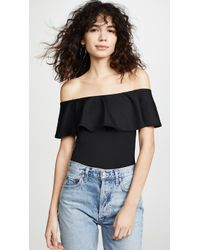 e570a9f4a6a72 Susana Monaco - Ruffle Off Shoulder Top - Lyst