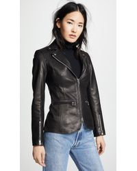 Alexander Wang - Fitted Moto Blazer With Zip Detail - Lyst