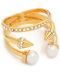 Vita Fede - Ultra Mini Freshwater Cultured Pearl Titan Ring - Lyst