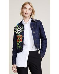 Michaela Buerger - Funky Flowers Denim Jacket - Lyst