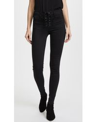 McGuire Denim - Isabeli Lace Up Skinny Jeans - Lyst