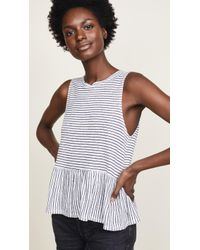 Three Dots - Flounce Tank Top - Lyst
