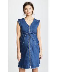Ingrid & Isabel - Zip Front Denim Dress - Lyst