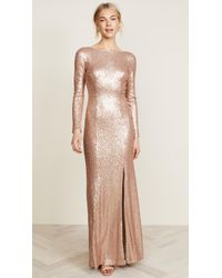 THEIA - Giselle Bateau Sequin Gown - Lyst