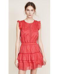Scotch & Soda - Sleeveless Dress With Pleated Ruffle - Lyst