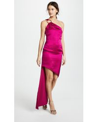 Haney - Nadia One Shoulder Dress With Ring Hardware - Lyst