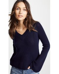 Ryan Roche - V Neck Cashmere Sweater With Flared Sleeves - Lyst