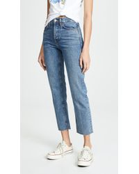 RE/DONE - High Rise Rigid Stove Pipe Jeans - Lyst