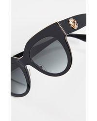 Fendi Round Acetate Sunglasses - Black