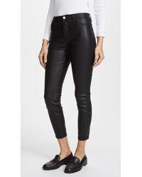Blank NYC - The Principle Mid Rise Vegan Leather Skinny Pants - Lyst