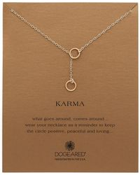 Dogeared - Karma Double Circle Adjustable Lariat Necklace - Lyst