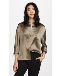 Vince - Single Pocket Blouse - Lyst