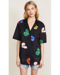 Cynthia Rowley | Getaway Cabana Shirt | Lyst