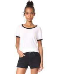 The Lady & The Sailor - Banded Basic Crew Tee - Lyst