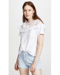 Sea - Eyelet Combo T-shirt - Lyst
