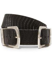 B. Belt - Double Buckle Embossed Belt - Lyst