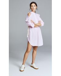 Edition10 - Oversized Cold Shoulder Dress - Lyst