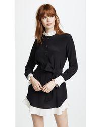 Rossella Jardini - Shirt Dress With Ruffle Hem - Lyst