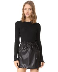 Line - Chelsea Ribbed Ruffle Pullover - Lyst