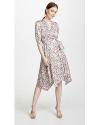 Edition10 - Printed Wrap Dress - Lyst