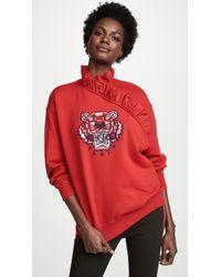 KENZO - Tiger Ruffle Sweatshirt - Lyst
