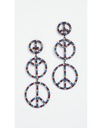 Elizabeth Cole - Peace Earrings - Lyst