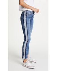 7 For All Mankind | Roxanne Ankle Jeans With Reverse Fray Tux | Lyst