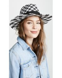 Kate Spade - Gingham Trilby Hat - Lyst