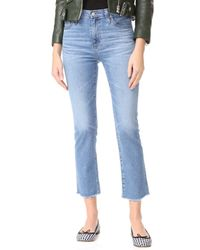 AG Jeans - The Isabelle High Rise Straight Jeans - Lyst