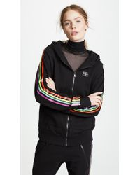 Baja East - Be Stripe Zip Hoodie - Lyst
