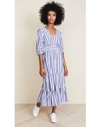 Madewell - Ruffle-sleeve Tiered Dress In Ava Stripe - Lyst