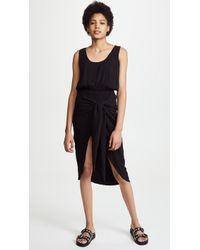 StyleStalker - Mabel Draped Dress - Lyst