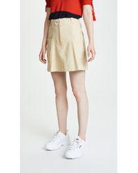 Carven - Cotton Gabardine Miniskirt With Pocket - Lyst