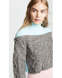 Opening Ceremony - Cable Turtleneck Jumper - Lyst