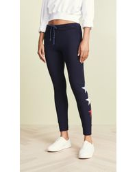 Sundry - Tricolor Stars Skinny Sweatpant - Lyst