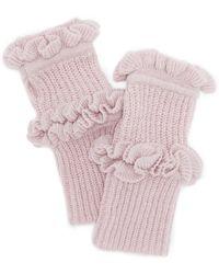 Rebecca Minkoff - Ruffle Fingerless Gloves - Lyst