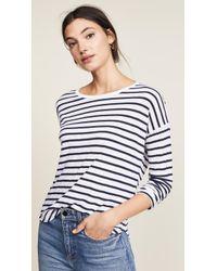 Splendid - Zander Striped Long Sleeve Tee - Lyst