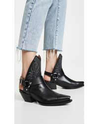 R13 - Black Half Cowboy Boots With Harness - Lyst
