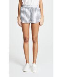 Splendid - Linen Blend Stripe Shorts - Lyst