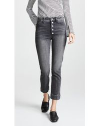 AMO - Audrey Jeans With Snaps - Lyst