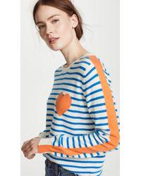 Chinti & Parker - Stripe Sleeve Cashmere Sweater - Lyst