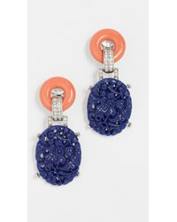 Kenneth Jay Lane - Carved Drop Deco Clip Earring - Lyst
