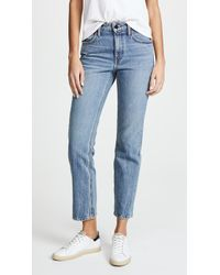 Alexander Wang - Cult Cropped Straight Leg Jeans - Lyst