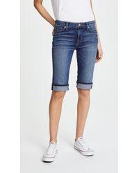 Hudson Jeans - Amelia Cuffed Knee Shorts - Lyst