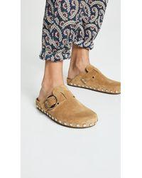 7d10172af6d Isabel Marant Lya Stud-embellished Point-toe Leather Flats in Brown ...