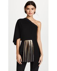 Yigal Azrouël - One Shoulder Top With Foil Pleats - Lyst