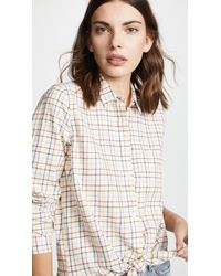 Madewell - Rainbow Plaid Tie Front Shirt - Lyst
